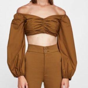 Zara draped crop top